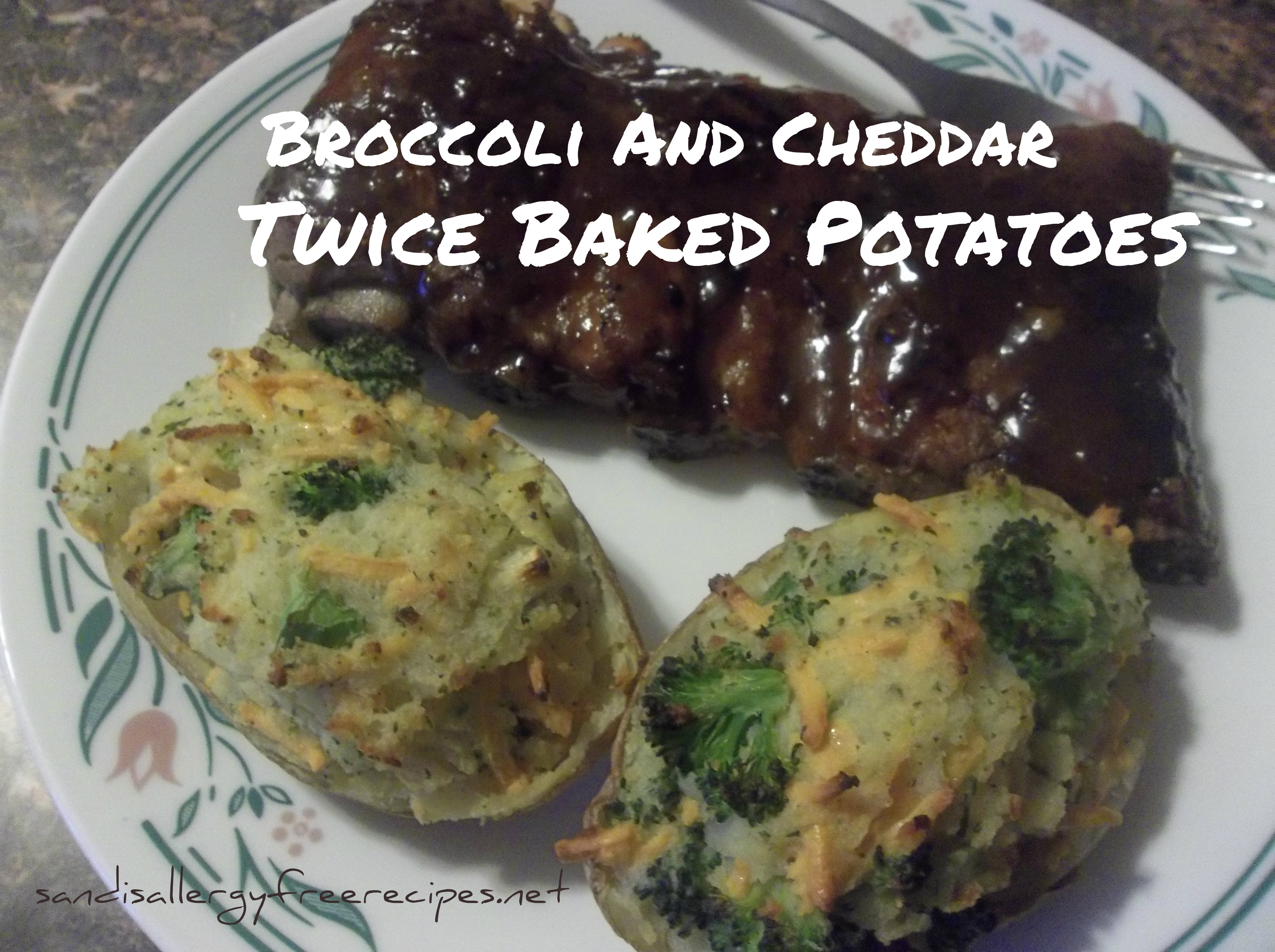 Broccoli & Cheddar Twice Baked Potatoes