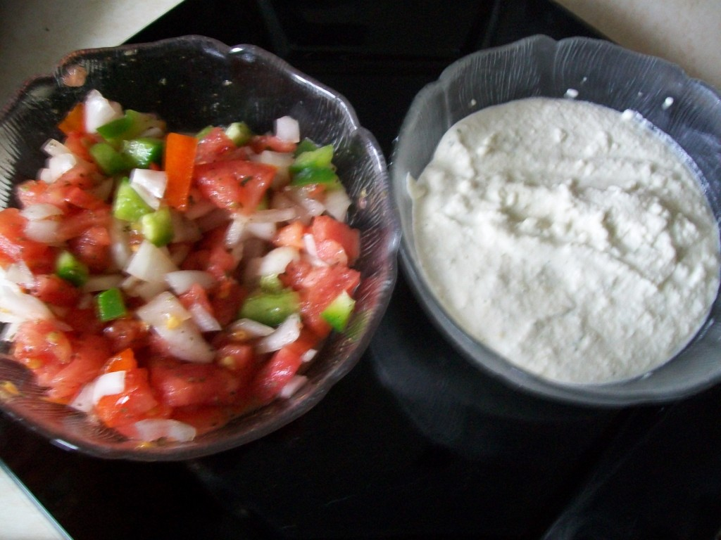Salsa and Cashew Cream
