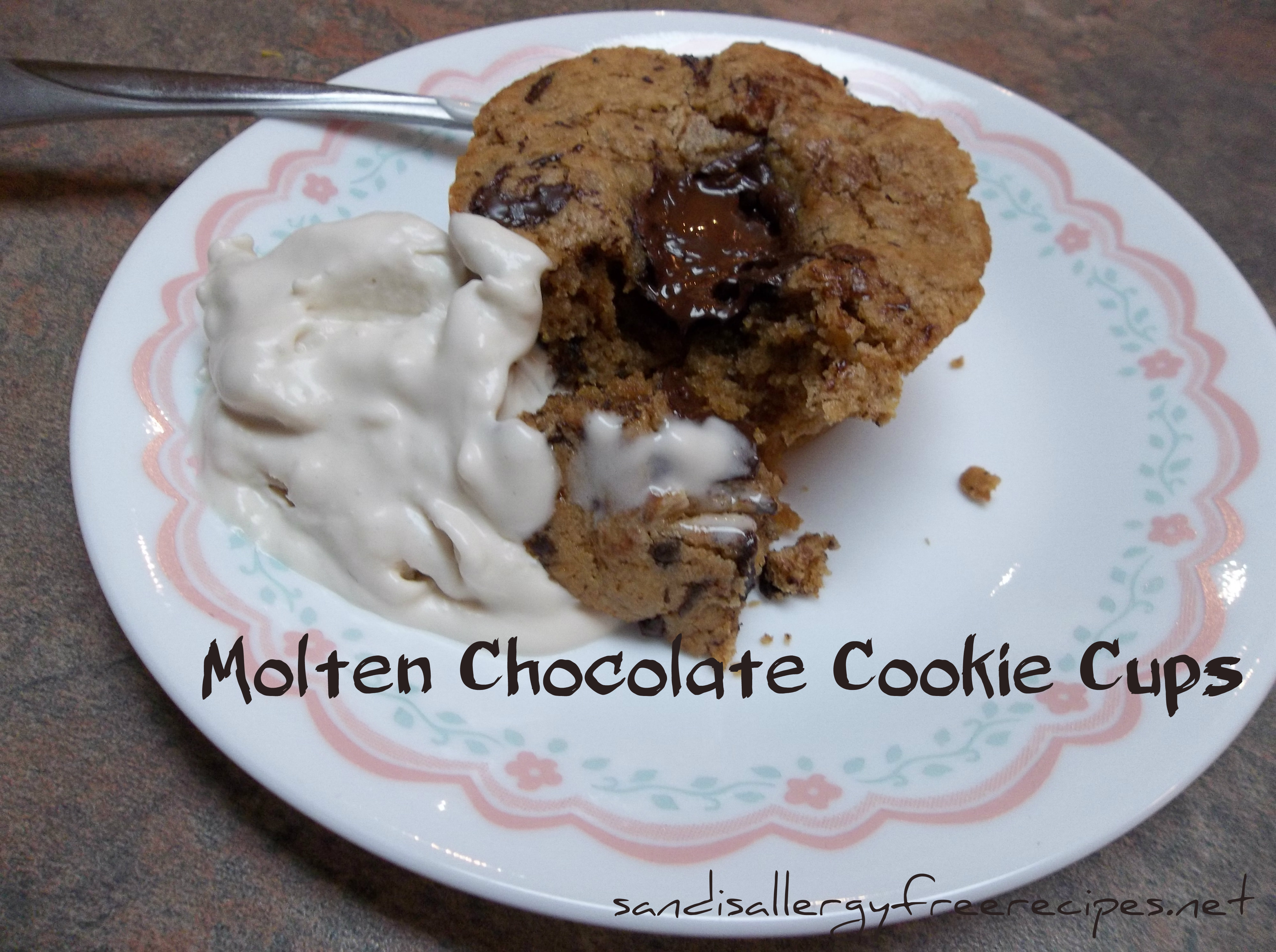 Molten Chocolate Cookie Cups