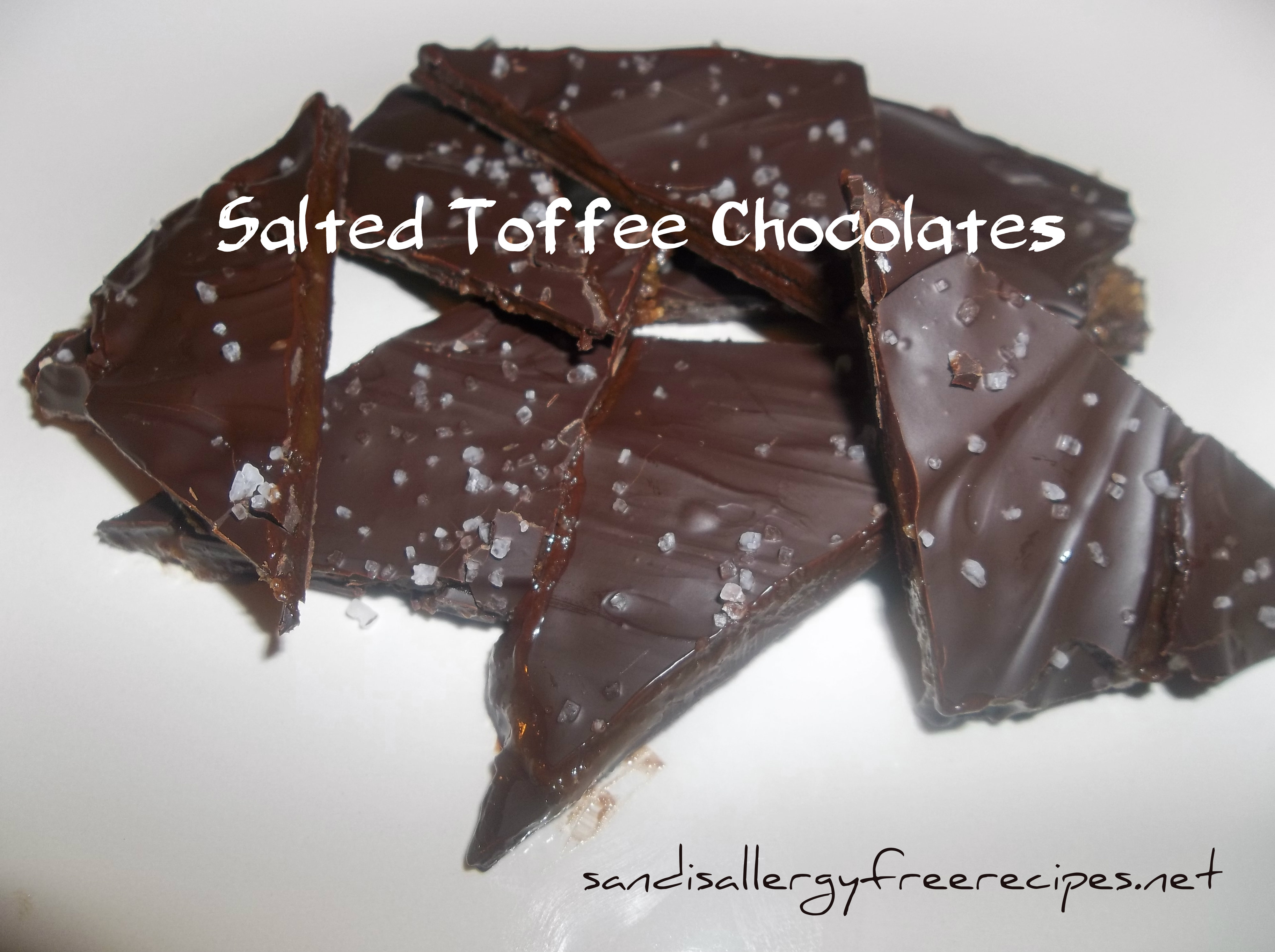 Salted Toffee Chocolates