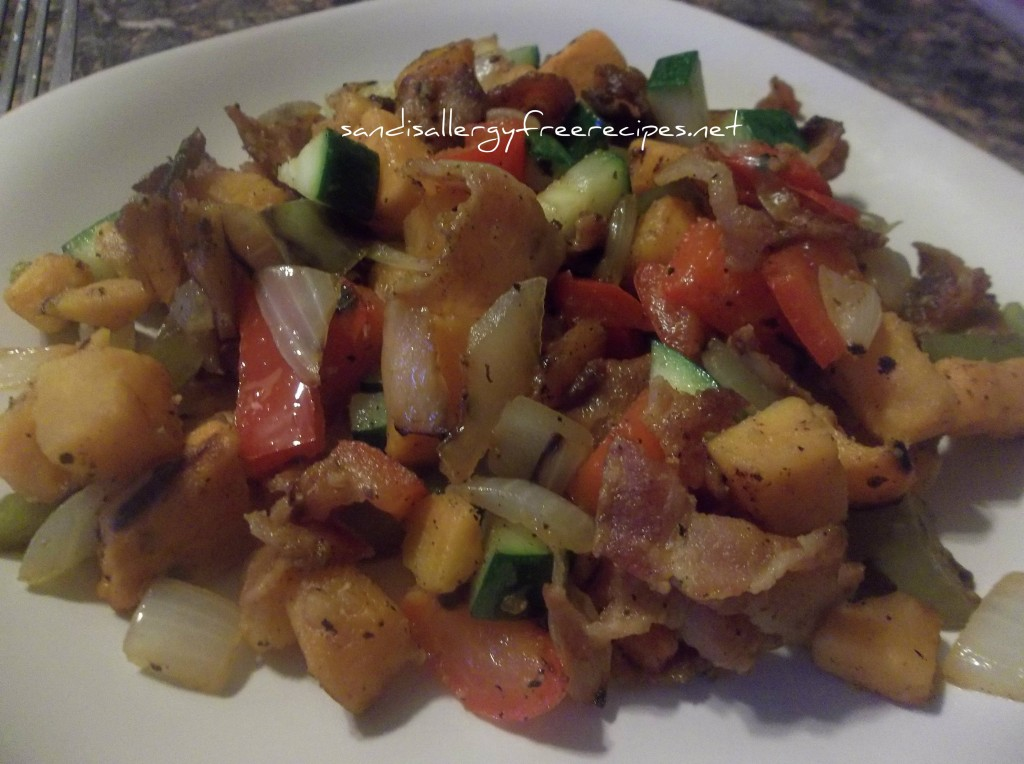 Sweet Potato Bacon Hash 2