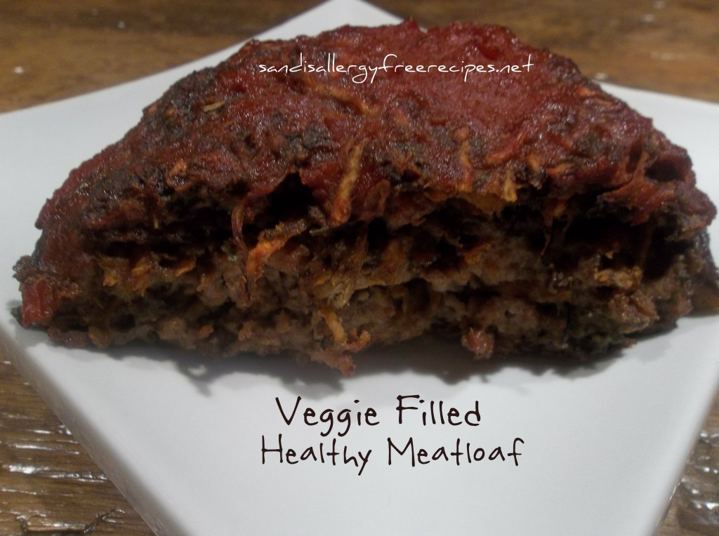Veggie Filled Meatloaf- Paleo