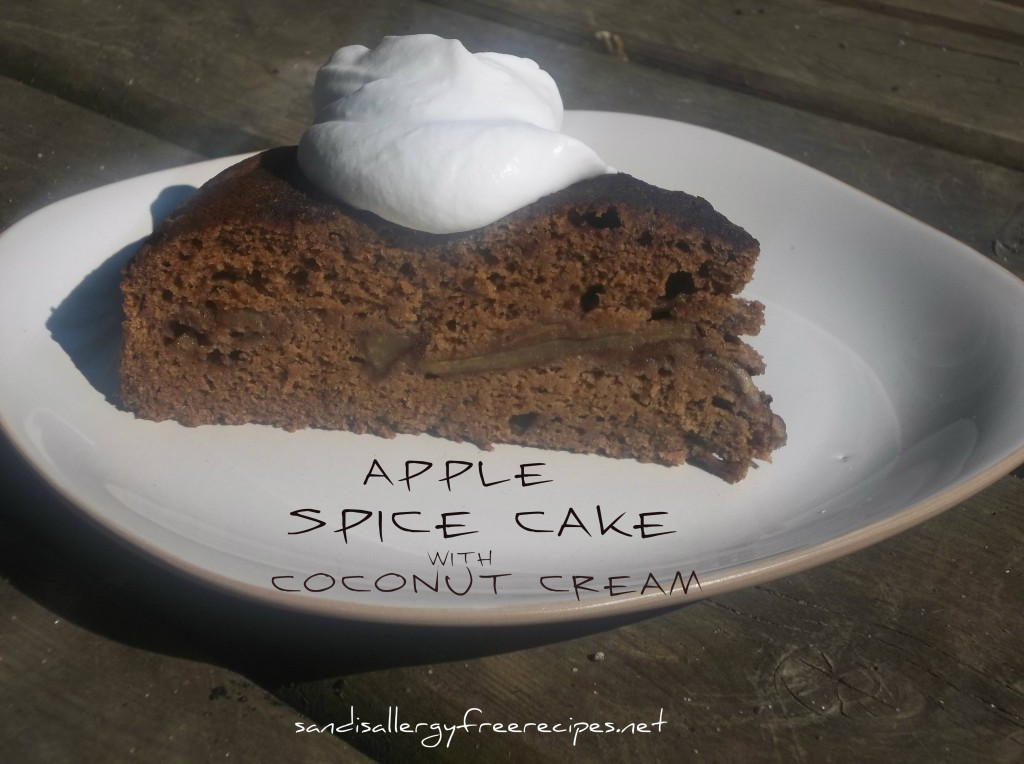 Apple Spice Cake with Coconut Cream