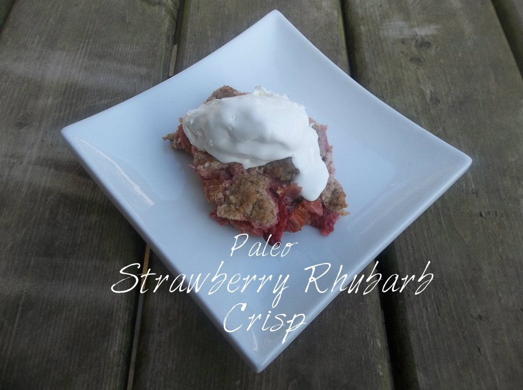 Paleo-Strawberry Rhubarb Crisp