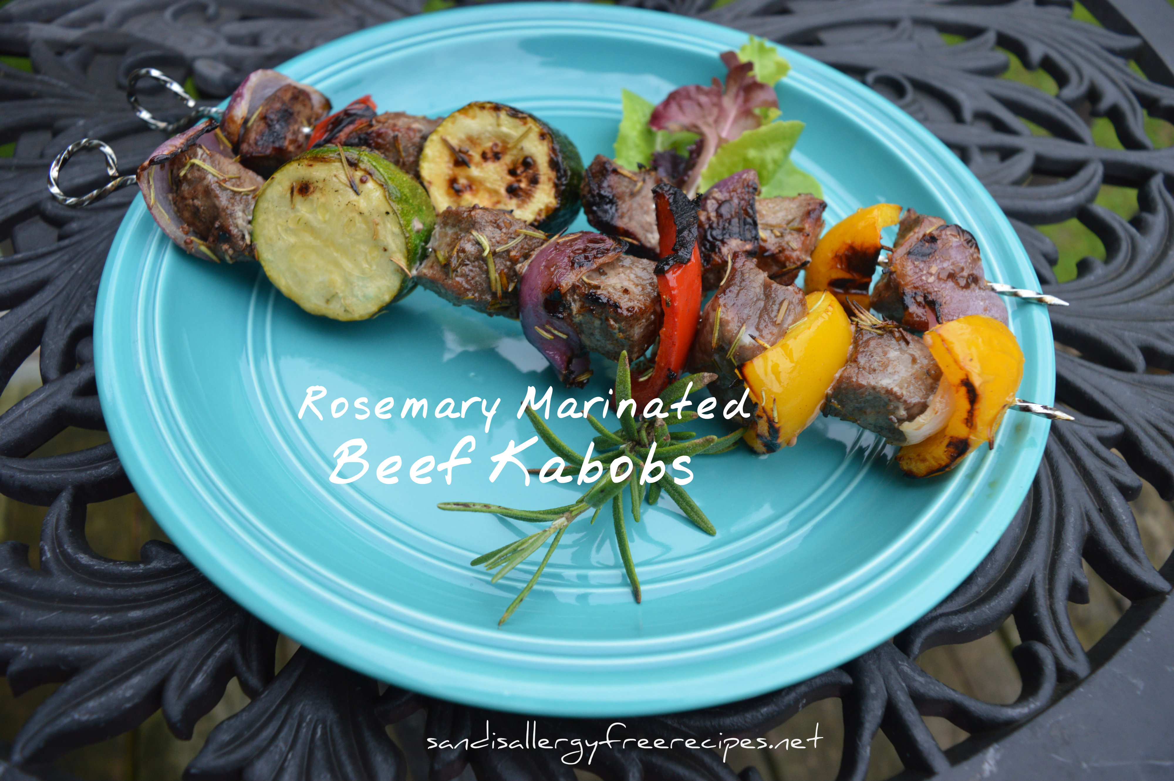 Check out my Rosemary Marinated Beef Kabobs at Paleo Demystified.