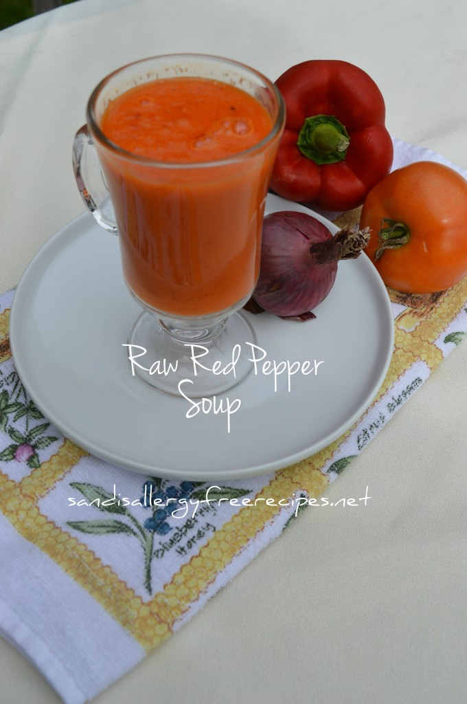 Raw Red-Pepper Soup For One