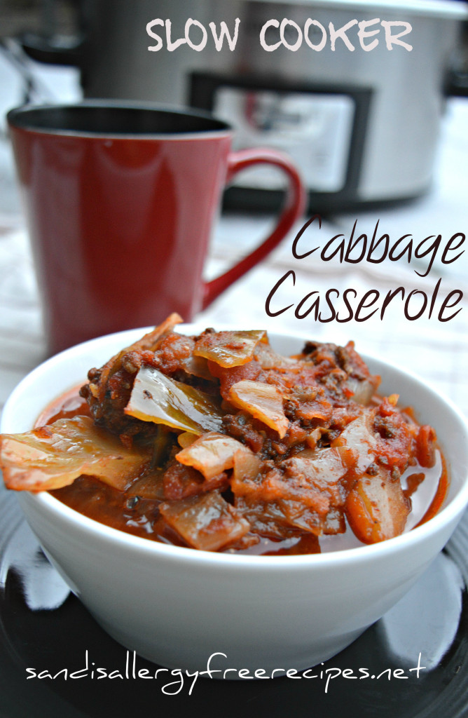 Slow Cooker Cabbage Casserole